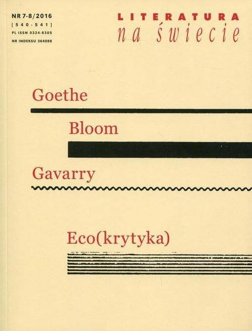 okładka Literatura na świecie 2016/07/08, Książka |
