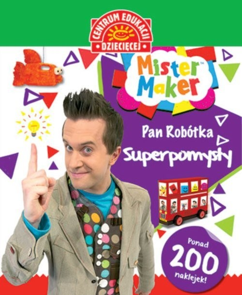 okładka Mister Maker Pan Robótka Superpomysłyksiążka     