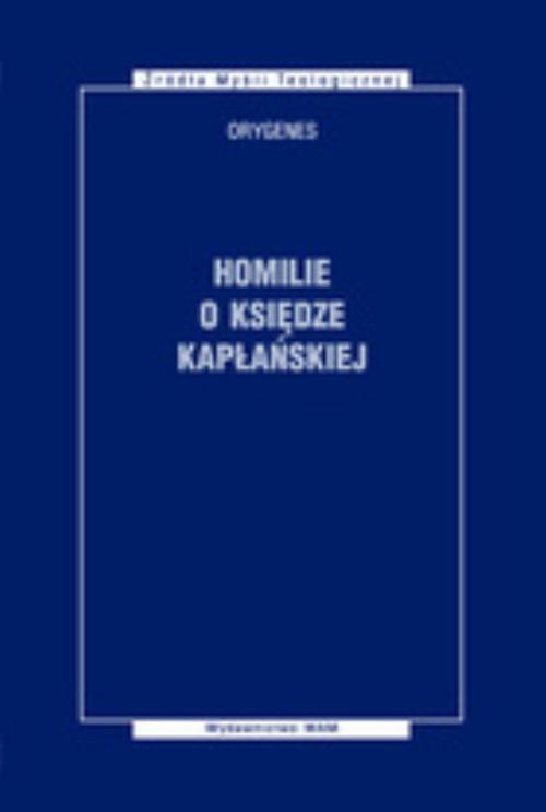 okładka Homilie o księdze kapłańskiej, Książka | Orygenes