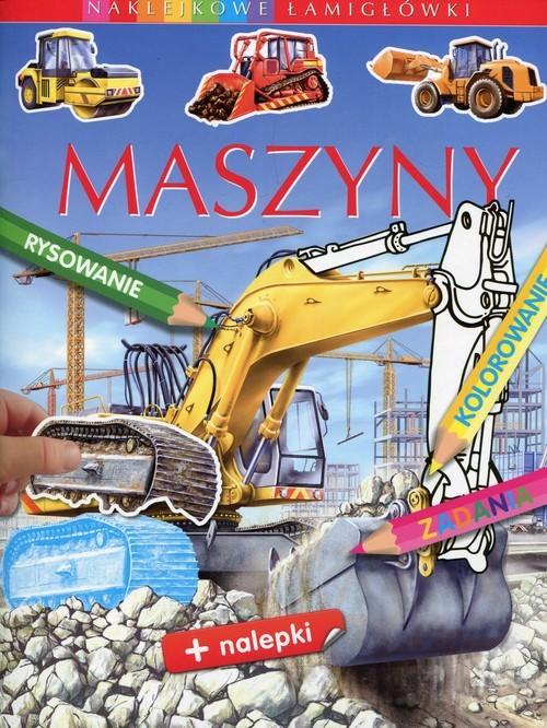 okładka Maszyny Naklejkowe łamigłówki, Książka | Emilie Beaumont