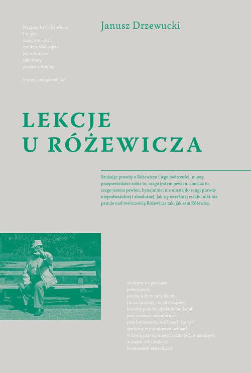 okładka Lekcje u Różewicza, Książka   Drzewucki Jerzy