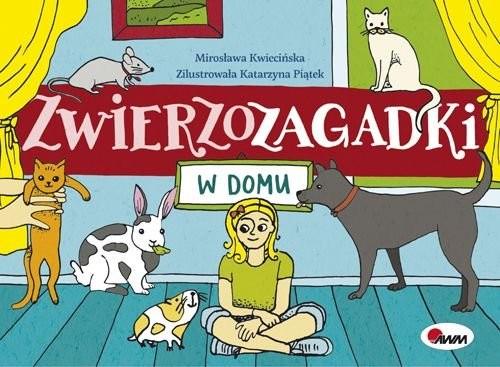 okładka Zwierzozagadki W domuksiążka      Kwiecińska Mirosława