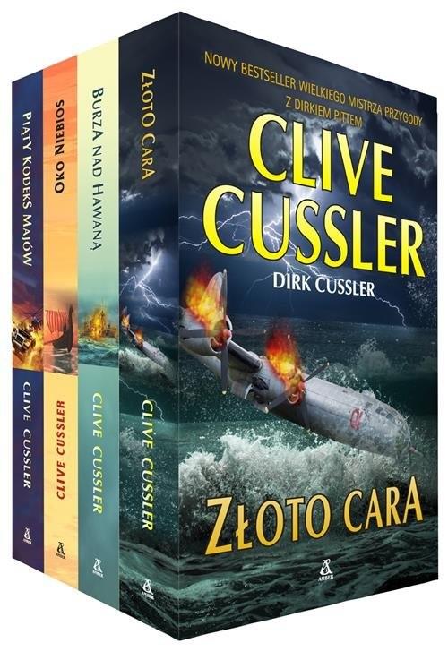 okładka Złoto cara / Burza nad Hawaną / Oko Niebios / Piąty kodeks Majów Pakiet, Książka | Cussler Clive