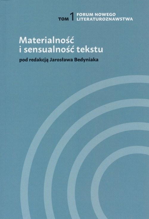 okładka Materialność i sensualność tekstu Tom 1, Książka |