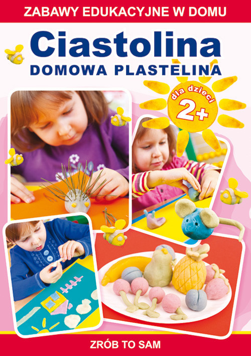 okładka Ciastolina Domowa plastelina Zabawy edukacyjne w domu. Zrób to sam. Dla dzieci 2+, Książka   Joanna  Paruszewska