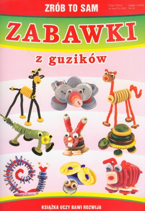okładka Zrób to sam zabawki z guzików, Książka | Beata  Guzowska
