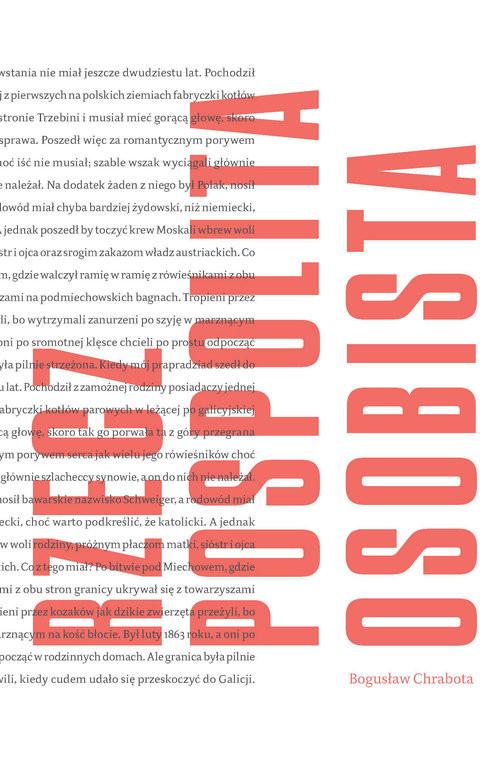 okładka Rzeczypospolita osobista, Książka | Chrabota Bogusław