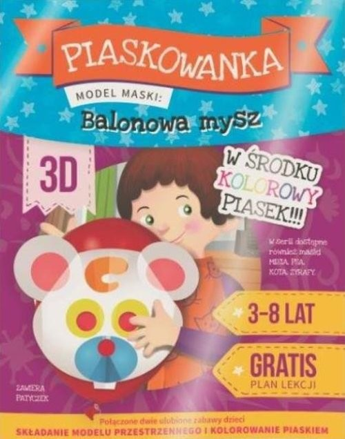 okładka Piaskowanka 3D - Balonowa mysz, Książka |