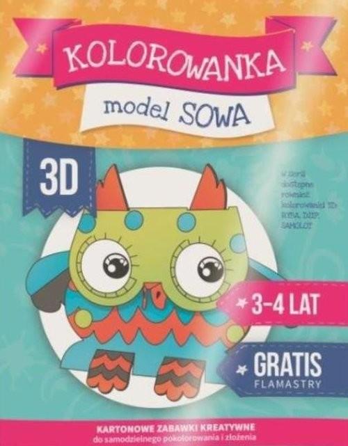 okładka Kolorowanka 3D: Sowa, Książka | Praca Zbiorowa