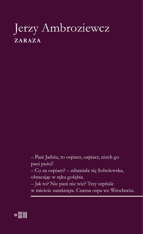 okładka Zaraza, Książka | Jerzy Ambroziewicz