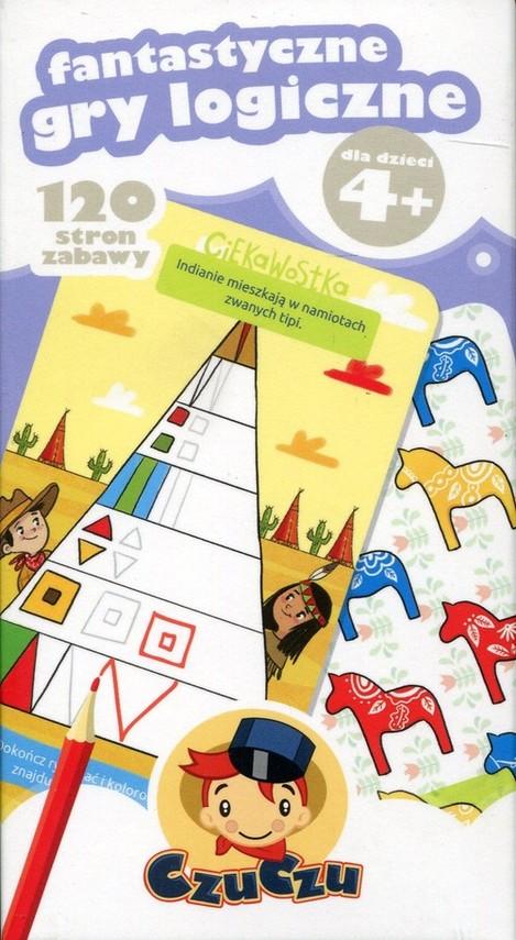 okładka CzuCzu Fantastyczne gry logiczne 4+, Książka |