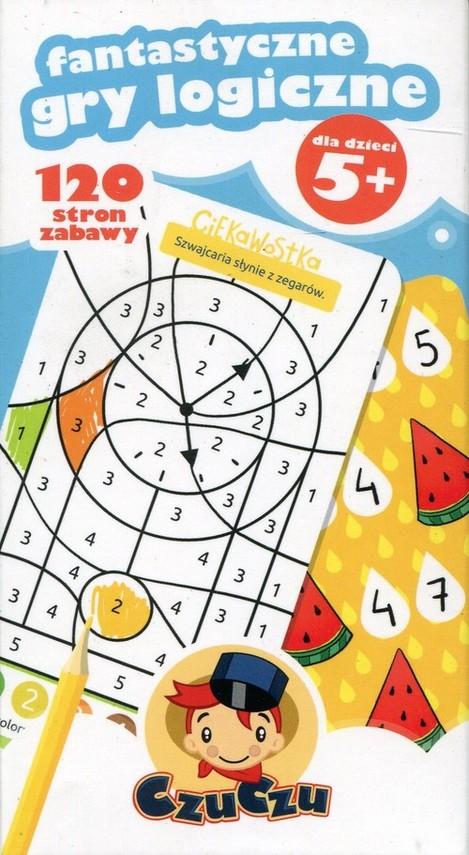 okładka CzuCzu Fantastyczne gry logiczne 5+, Książka |