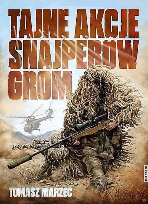okładka Tajne akcje snajperów GROM, Książka | Marzec Tomasz