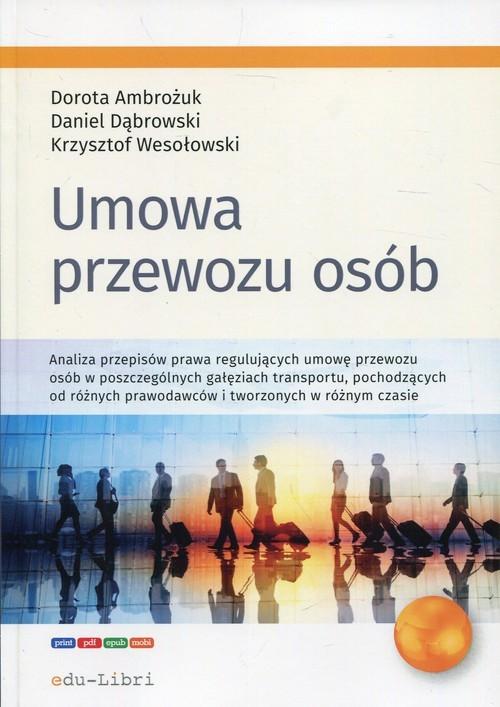 okładka Umowa przewozu osób, Książka | Dorota Ambożuk, Daniel Dąbrowski, Wesołowski