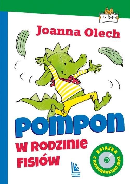 okładka Pompon w rodzinie Fisiów z audiobookiem, Książka | Olech Joanna