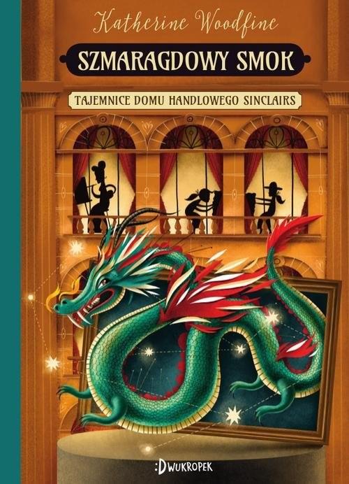 okładka Szmaragdowy smok, Książka   Woodfine Katherin