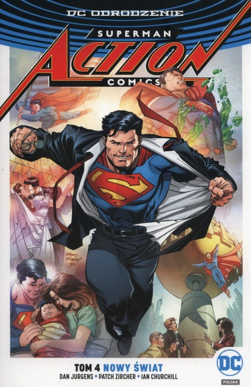 okładka Superman Action Comics Tom 4 Nowy świat, Książka | Dan Jurgens, Patch Zircher, Ian Churchill