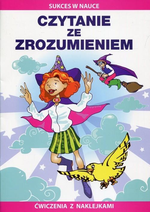okładka Czytanie ze zrozumieniem Ćwiczenia z naklejkami, Książka | Beata  Guzowska