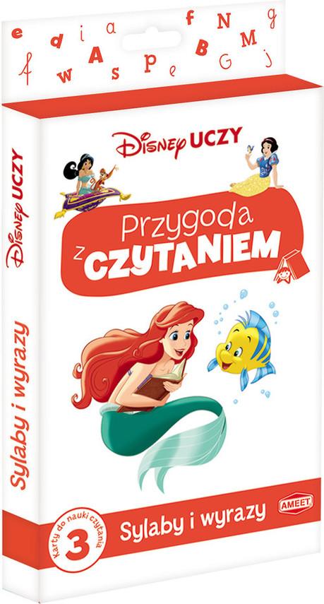 okładka Disney Uczy Księżniczka Przygoda z czytaniem Sylaby i wyrazy PCK-3, Książka |