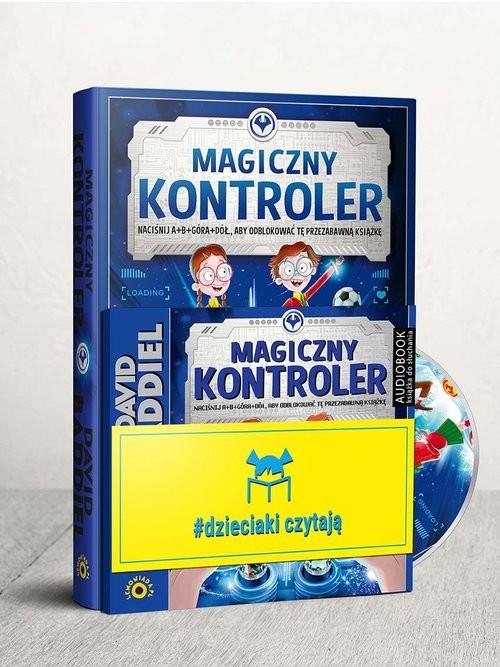 okładka Dzieciaki Czytają: Magiczny Kontroler + CD Pakiet, Książka | David  Baddiel