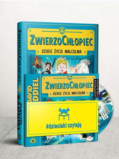 okładka Dzieciaki Czytają: ZwierzoChłopiec + CD Pakiet, Książka | David  Baddiel