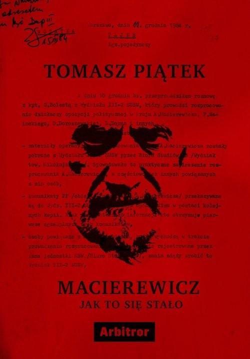 okładka Macierewicz Jak to się stało, Książka | Piątek Tomasz