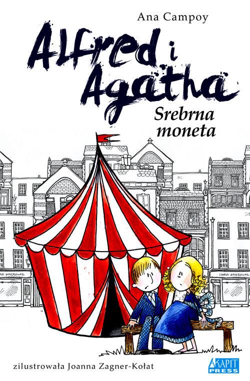 okładka Alfred i Agatha Srebrna moneta, Książka |