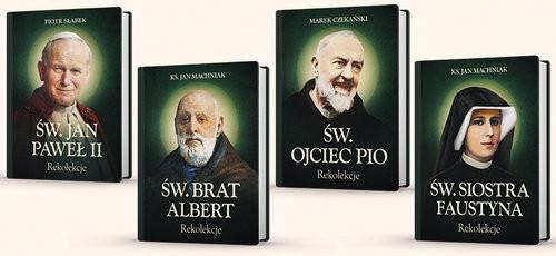 okładka Komplet rekolekcji ze Świętymi św. Brat Albert, św. Jan Paweł II, św. Faustyna, św. o. Pio, Książka |