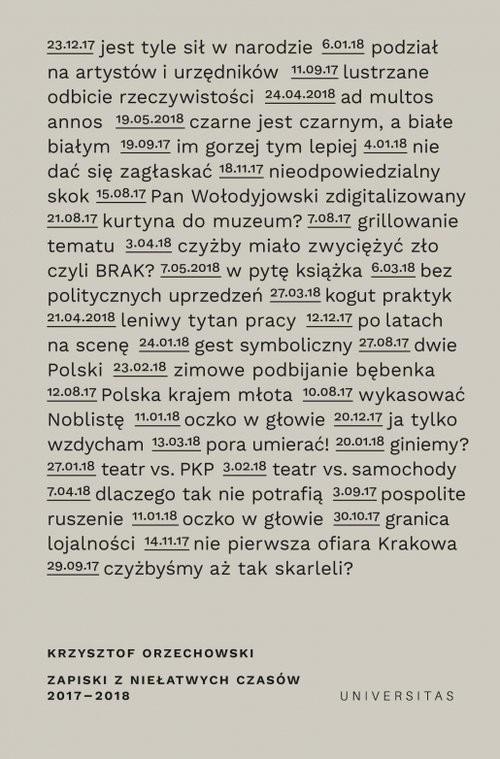 okładka Zapiski z niełatwych czasów, Książka | Orzechowski Krzysztof