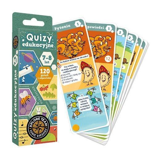 okładka Xplore Team Quizy edukacyjne 7-8 lat, Książka |