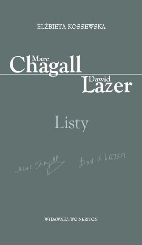 okładka Marc Chagall-Dawid Lazer Listy, Książka | Kossewska Elżbieta