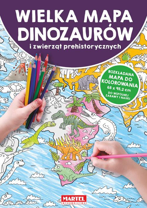 okładka Mapa Dinozaury i zwierzęta prehistoryczne, Książka  