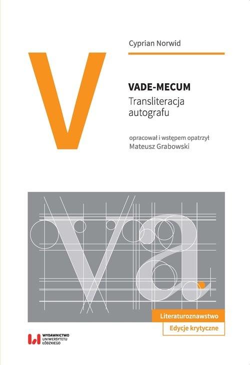 okładka Vade-mecum Transliteracja autografu, Książka | Norwid Cyprian