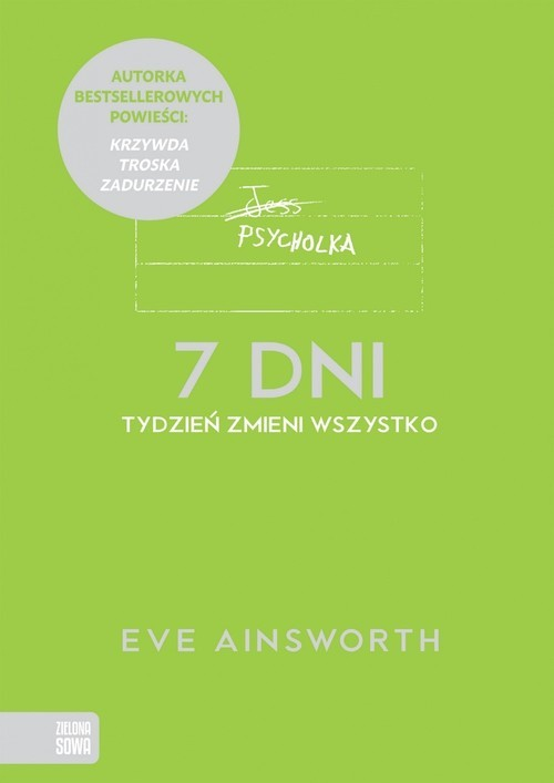 okładka 7 dni, Książka   Eve Ainsworth