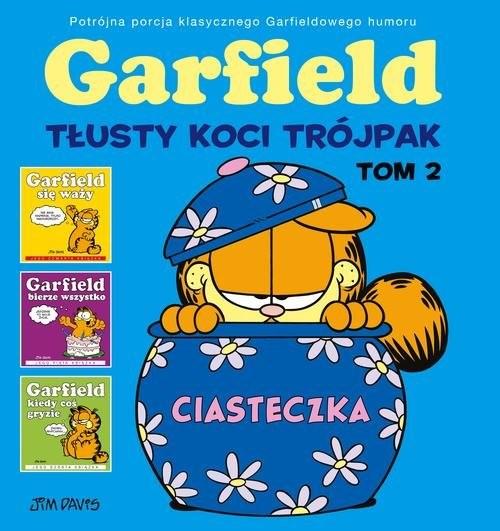 okładka Garfield Tłusty koci trójpak Tom 2, Książka | Davis Jim