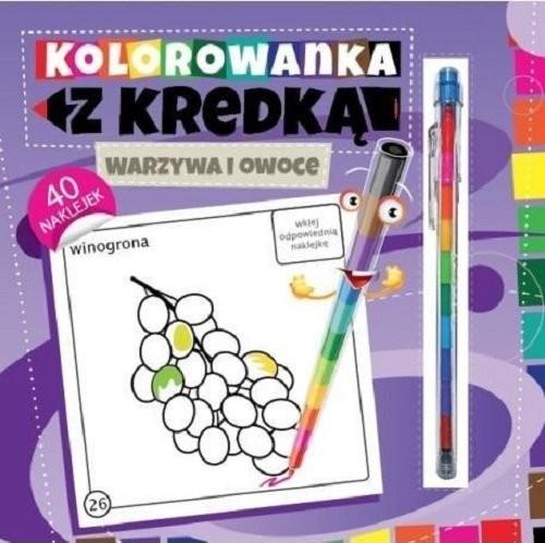 okładka Kolorowanka z kredką Warzywa i owoce, Książka   Południak Marcin