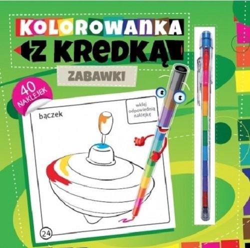 okładka Kolorowanka z kredką Zabawki, Książka   Południak Marcin