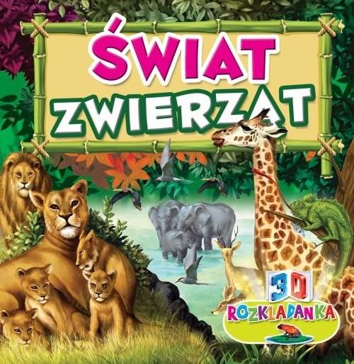 okładka Rozkładanka 3D Świat zwierząt, Książka |