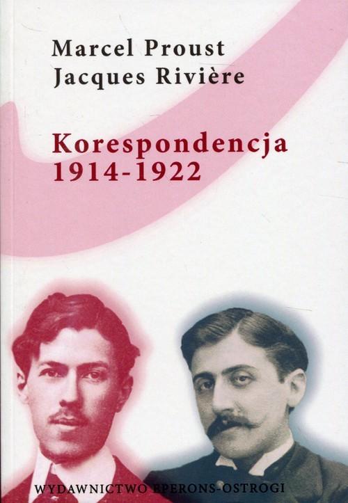 okładka Korespondencja 1914-1922, Książka | Marcel Proust, Jacques Riviere