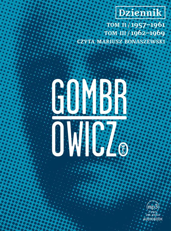 okładka Dziennik t.2 i 3 - audiobookaudiobook | MP3 | Witold Gombrowicz