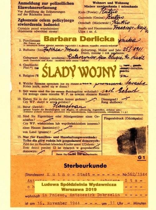 okładka Ślady wojny, Książka   Derlicka Barbara