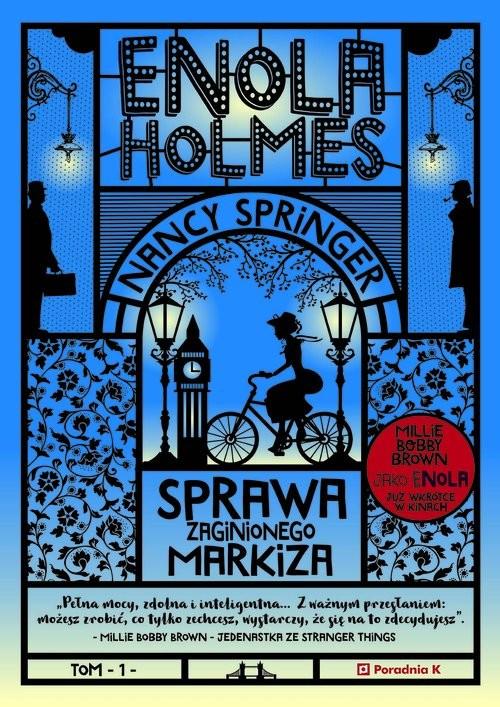 okładka Enola Holmes Tom 1 Sprawa zaginionego markiza, Książka | Springer Nancy