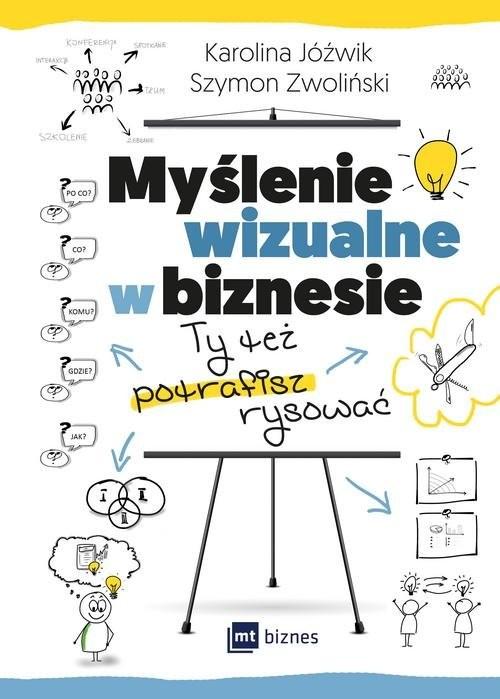 okładka Myślenie wizualne w biznesie Ty też potrafisz rysować, Książka | Karolina Jóźwik, Szymon Zwoliński