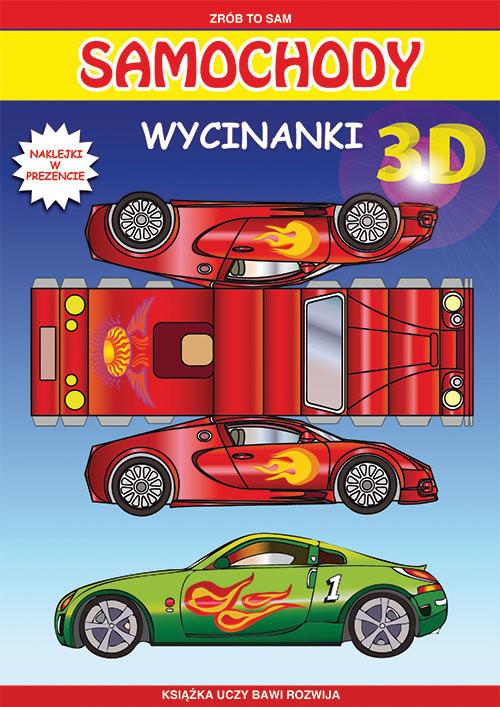 okładka Samochody Wycinanki 3D Naklejki w prezencie, Książka | Tonder Krzysztof