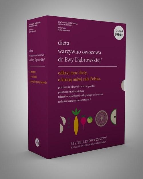okładka Pakiet Dieta warzywno-owocowa dr Ewy Dąbrowskiej®, Książka | Beata Dąbrowska, Paulina Borkowska