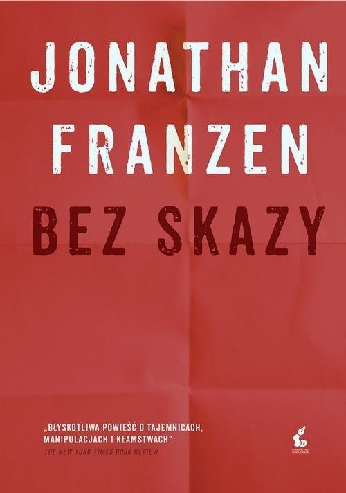 okładka Bez skazy, Książka | Franzen Jonathan
