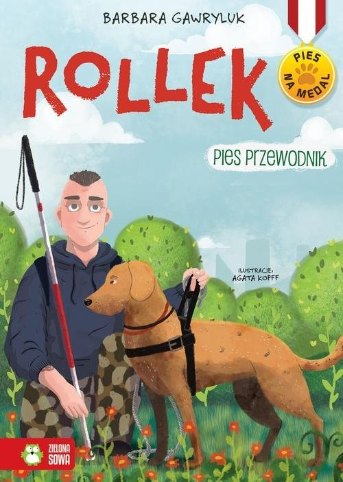 okładka Pies na medal Rollek Pies przewodnik Tom 5, Książka | Barbara  Gawryluk