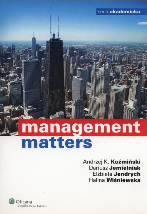 okładka Management Mattersksiążka |  | Dariusz Jemielniak, Elżbieta Jendrych, Koźmiń