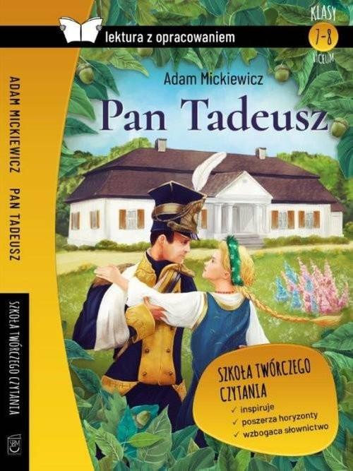 okładka Pan Tadeusz Lektura z opracowaniem, Książka | Mickiewicz Adam