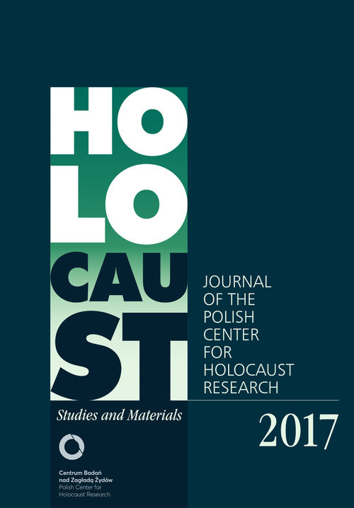 okładka Holocaust Studies and Materials 2017 Journal of the Polish Center for Holocaust Research, Książka | nacz. Dariusz Libionka Red.